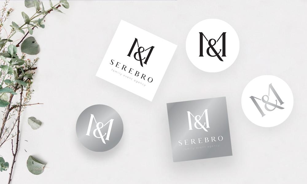 Брендинг для ивент агентства SEREBRO-image